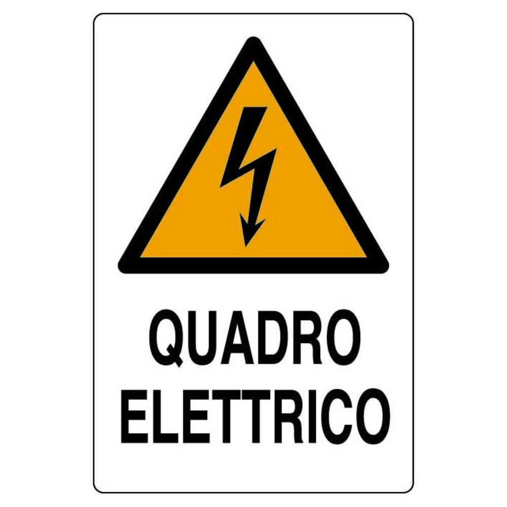Cartel en aluminio blanco cm 30X20 Cuadro eléctrico: Amazon ...