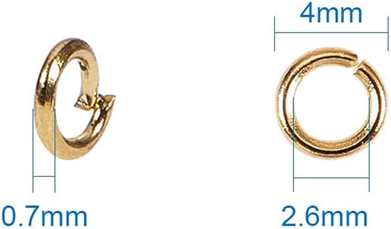 3300 Pcs Jump Rings 4mm Diameter Iron Plated DIY Jewelry Making for Earring Bracelet Necklace