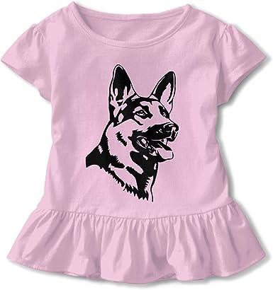 Corgi What Toddler Baby Girl Basic Printed Ruffle Short Sleeve Cotton T Shirts Tops Tee Clothes