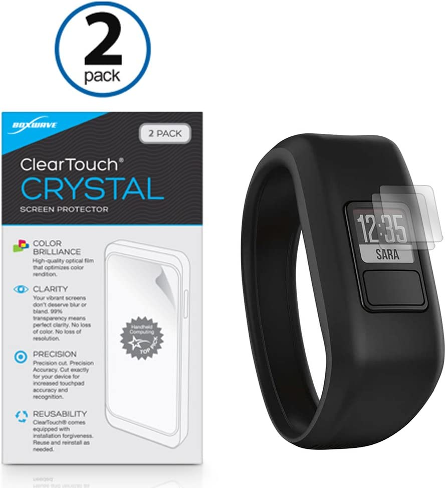 HD Film Skin Garmin inReach Explorer+ Screen Protector Shields from Scratches for Garmin inReach Explorer+ 2-Pack SE+ BoxWave ClearTouch Crystal