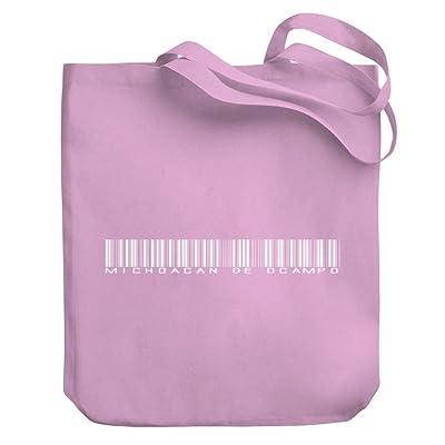 Teeburon Michoacan De Ocampo Barcode Canvas Tote Bag
