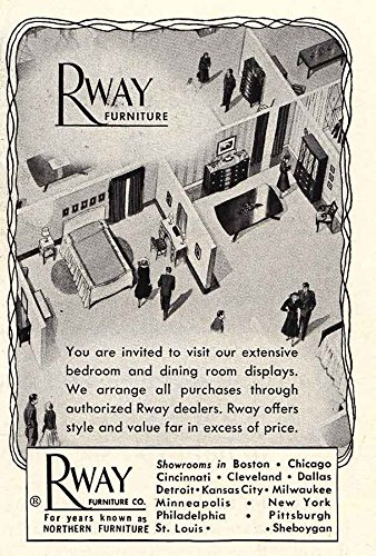 1949 Rway Furniture: Bedroom, Dining Room Displays, Rway Furniture, Northern  Furniture Print