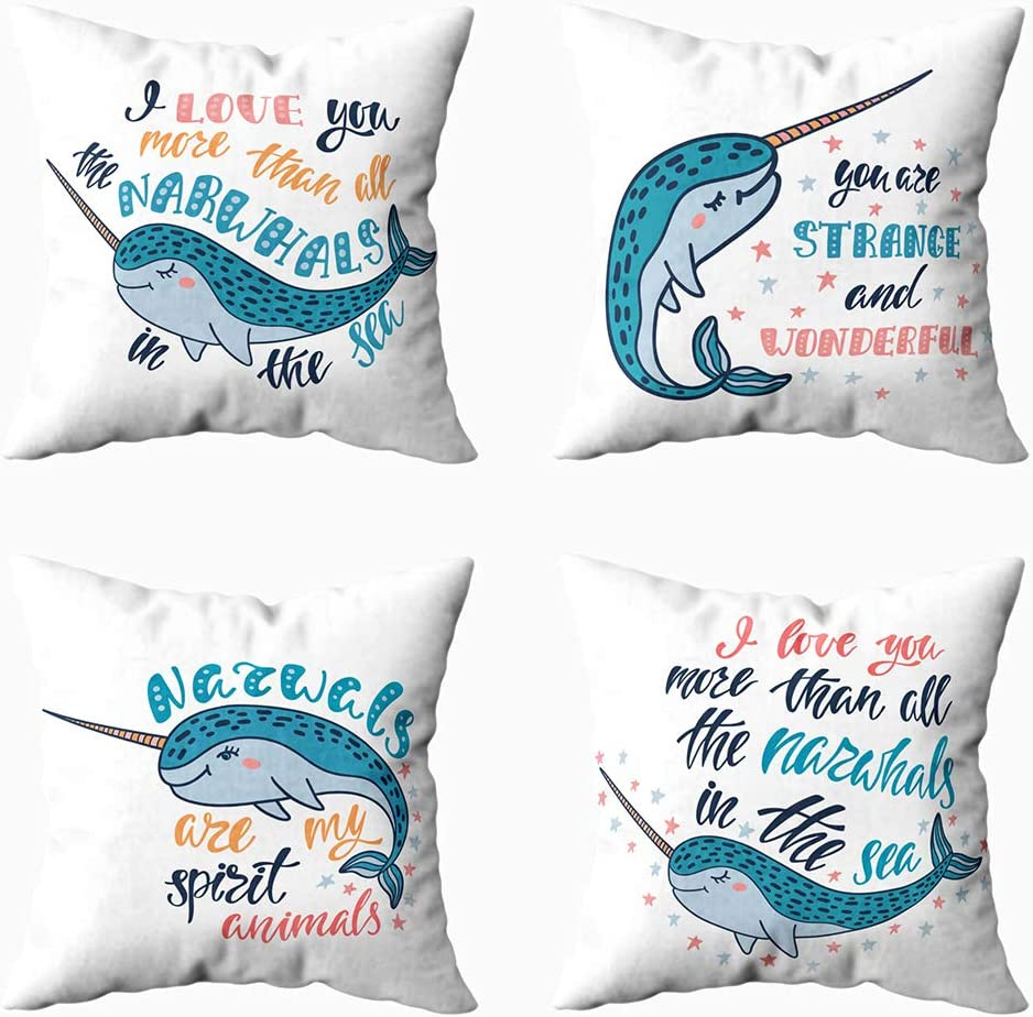 Amazon Com Shorping 20x20 Pillow Covers Decorative Christmas Pillow Covers 4 Pack Throw Pillow Covers Travel Pillow Cover Dog Pillow Cover You Are Strange And Wonderful Handwritten Inspirational Quote For Home Home
