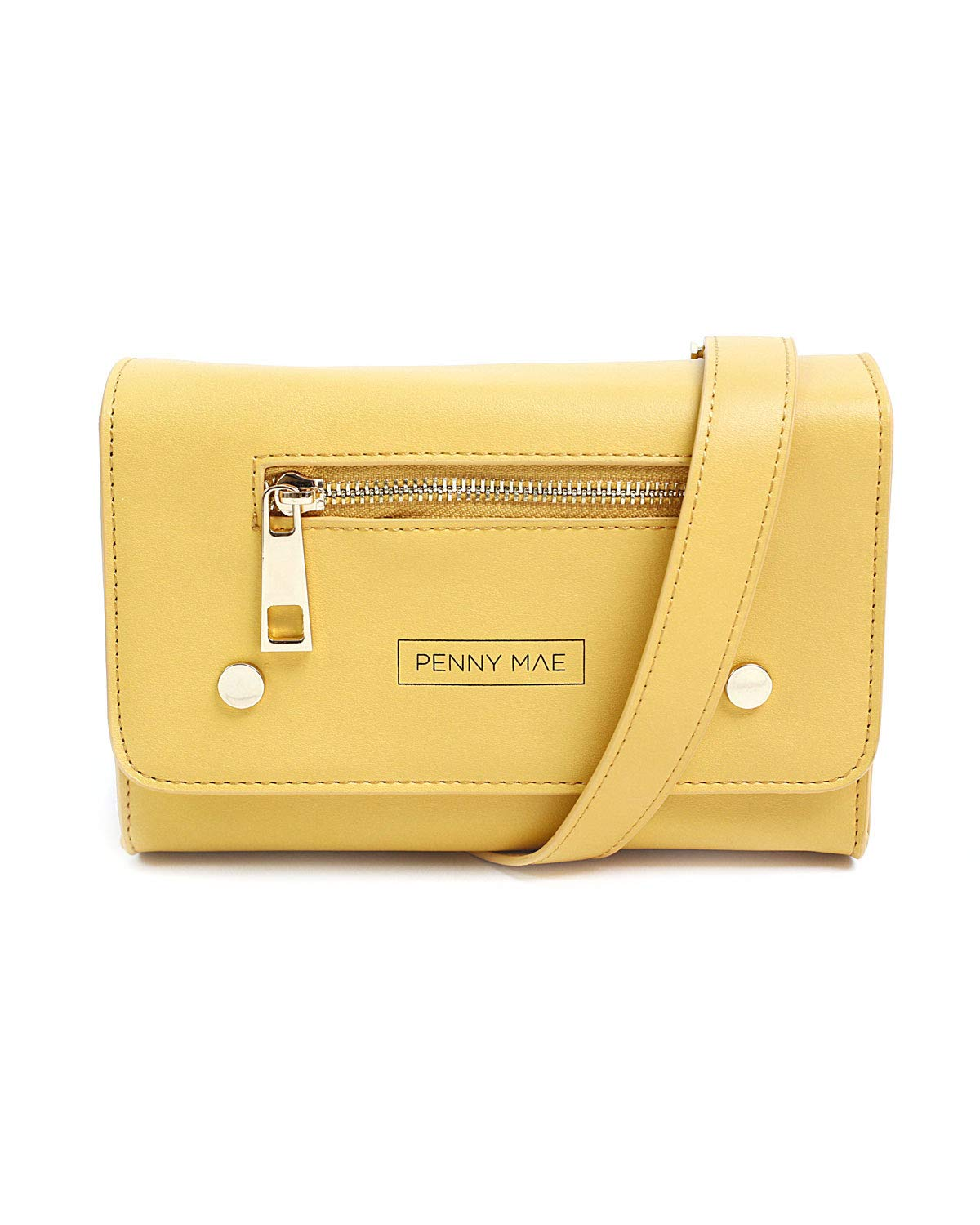 Sandy Brown Cute Trendy Womens All Purpose Travel Bag Penny Mae Rory Leather Fanny Pack Waist Bag
