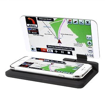 Rupse Heads Up pantalla, GPS coche Hud Soporte universal Smart Mobile Teléfono Gps Soportes navegadores
