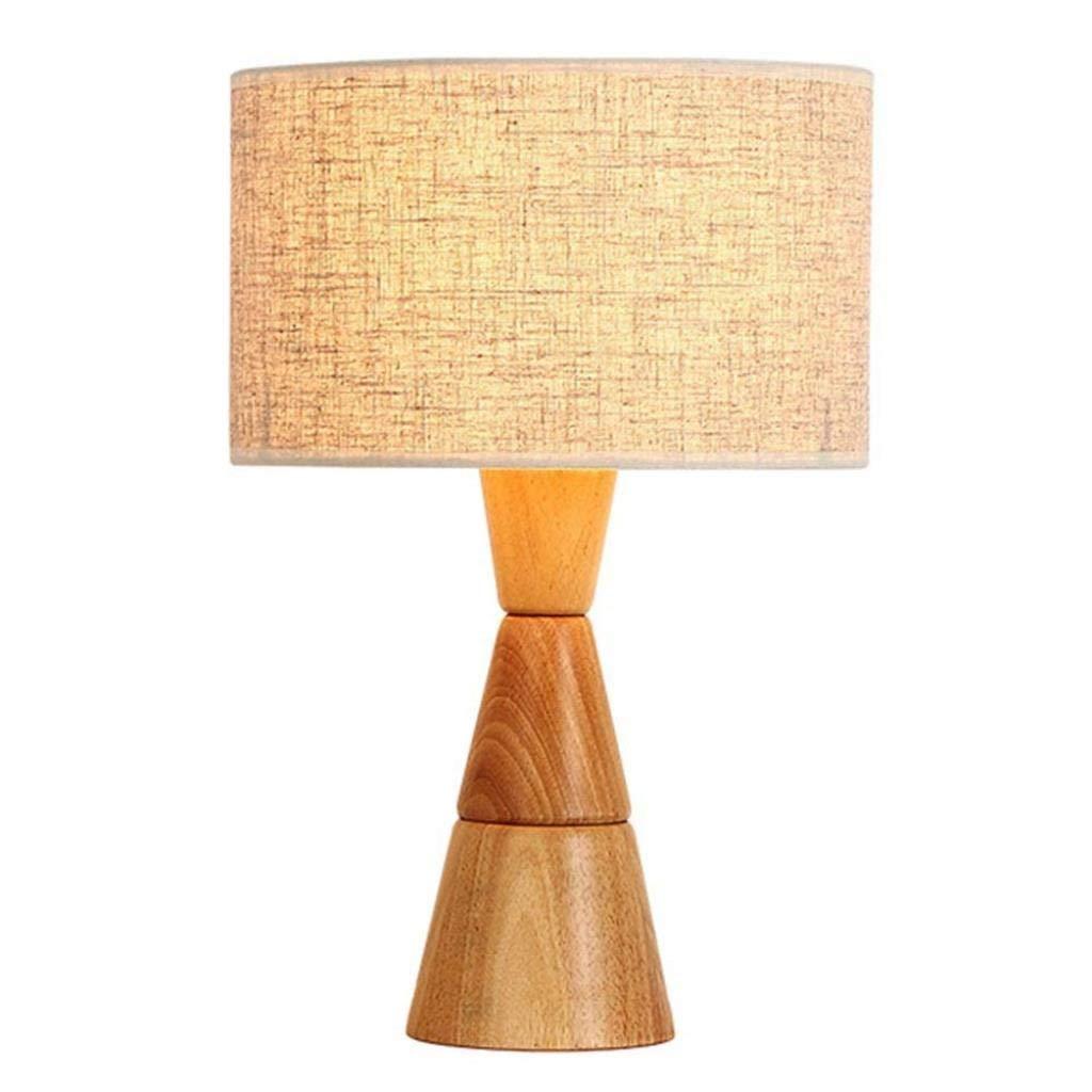電気スタンドランプ室内照明テーブルランプled電気スタンドタッチテーブルランプクリエイティブソリッドウッドアイled電気スタンドベッドルームベッドサイドデコレーション (Color : Wood Color-28*12*46cm) B07TCZ9L8P Wood Color-28*12*46cm