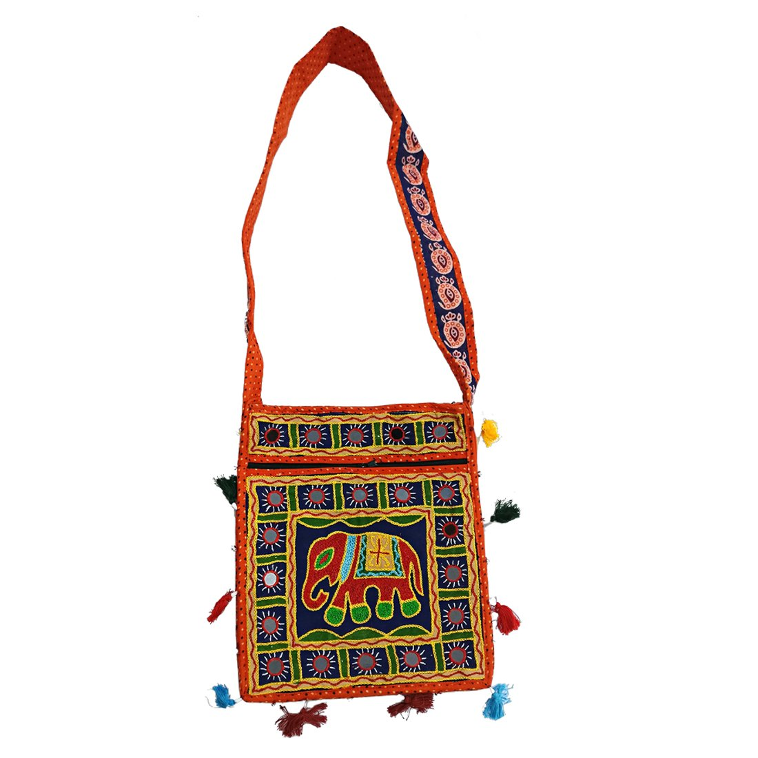 Ratnatraya Ethnic Women's Traditional Jaipur Colorful Designer Handicrafts Hand Bags For Mother, College Girls | Gift Items for Wedding, Birthday