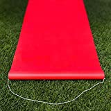 Create your own special red carpet event with these fun and fancy aisle runners and add drama to your celebration! This durable red carpet is made of polyester and is 2 ft x 15 ft long. It is suitable for both indoor and outdoor use. A rope h...