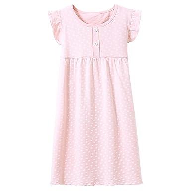 buy popular e2bc1 f996e Allmeingeld Prinzessin Nachthemden für Mädchen Kurzarm Kinder Schlafanzüge  für 3-12 Jahre