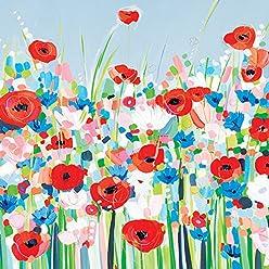 "40 x 40cm Multi-colour Janet Bell /""frosty Windows/"" Canvas Print"