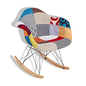 Attraktiv Chunse Sessel PP Rückenlehnenstuhl Holz/Metall Bein Schaukelstuhl Nordic  Style Freizeit Stuhl,O