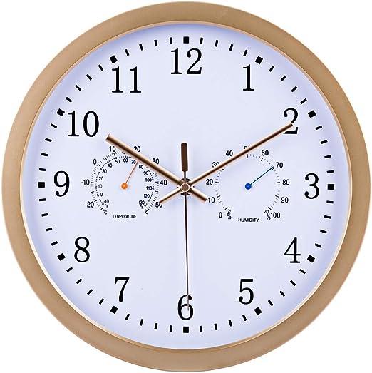 TETAKE Funkuhr Wanduhr Lautlos Ø 30 CM Küchenuhren Wanduhr Funk Geräuschlos  Funk Wanduhren Funkwanduhr mit Thermometer und Hygrometer für Küche ...
