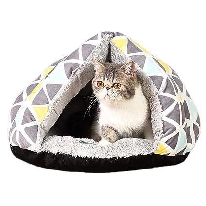 Steaean Cama para mascotas Mascota para gatos Hormiga de invierno Invierno Nido de yurta Gatito Gatos