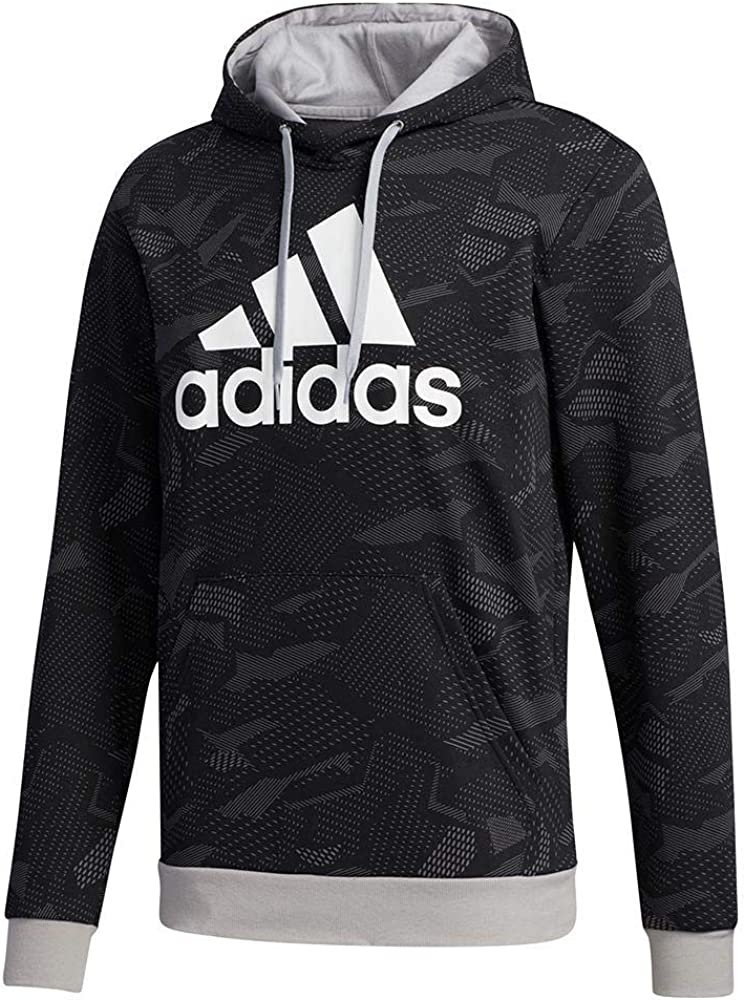 adidas male essentials all over print hoodie