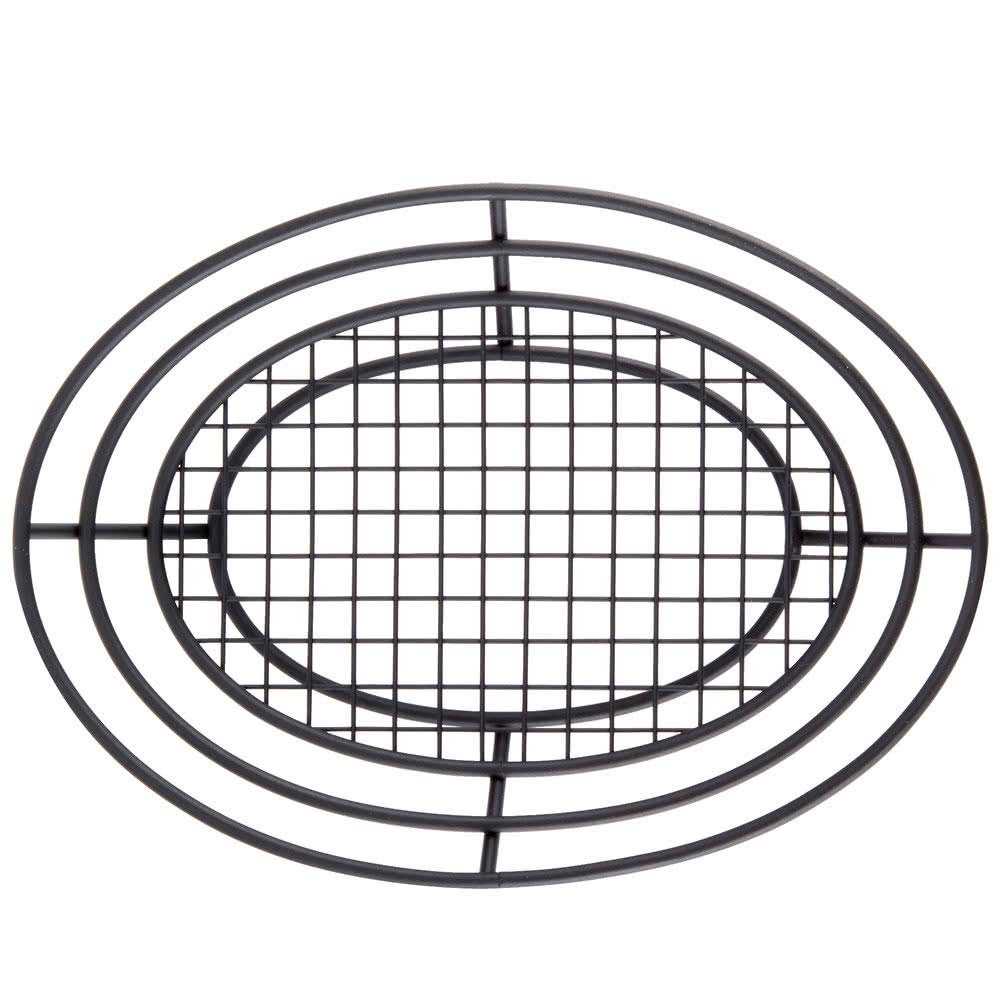 GET Pack of 1 Enterprises Black Oval Metal Wire Basket Iron Powder Coated Wire Baskets Collection 4-38814 G.E.T