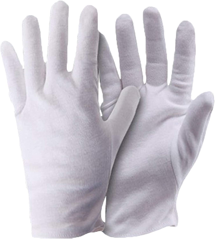 Meta-U Wholesale White Soft Cotton Work/Lining Glove (5 Pairs)