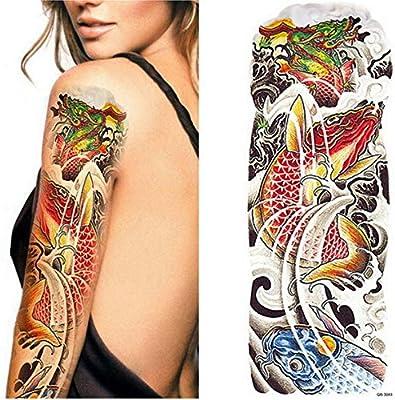 Handaxian 3 Piezas Tatuaje Tatuaje Manga Completa Tatuaje niño ...
