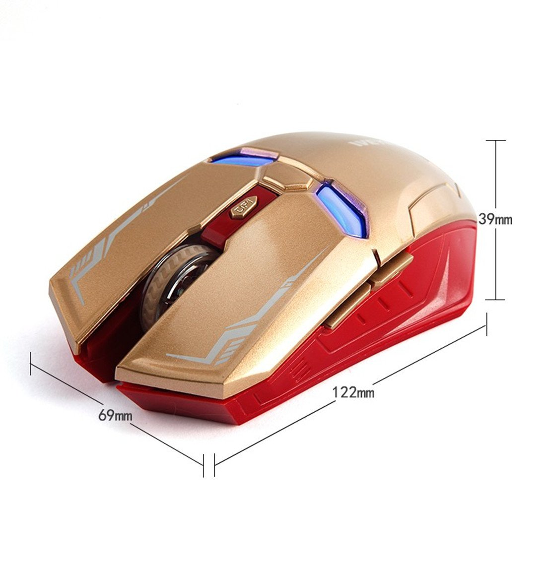 Taonology Iron Man Wireless Gaming Mouse 2 4G with USB Nano
