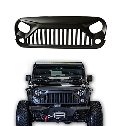 Exceptional SXMA Jeep Wrangler JK Accessories Grille Gladiator Angry Front Grille Grill  For Jeep Wrangler Rubicon Sahara
