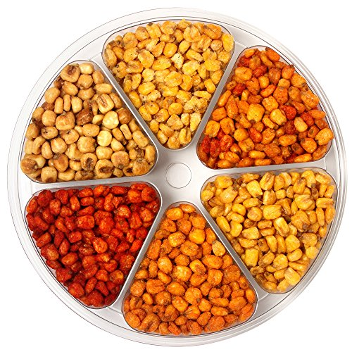 - Sincerely Nuts 6-Sectional Corn Nuts Tray | BBQ Corn Nuts, Ranch Corn Nuts, Spicy Corn Nuts, Chili Lemon Corn Nuts, Salted Corn Nuts and Jumbo Corn Nuts