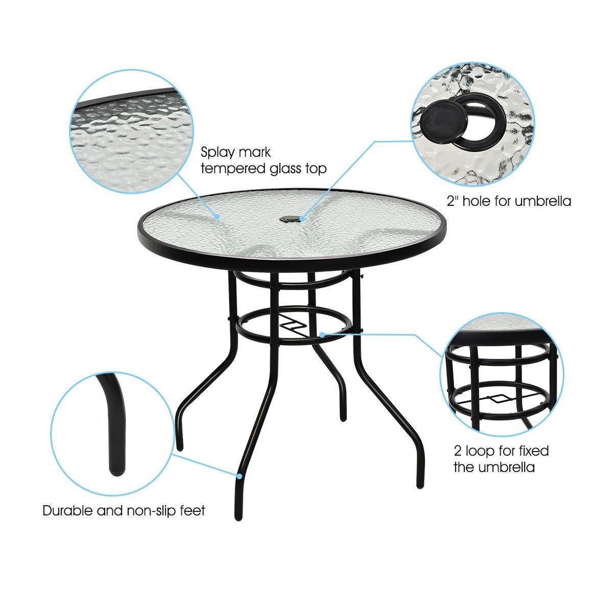 Amazon.com: Goplus - Juego de muebles de jardín de 5 piezas ...