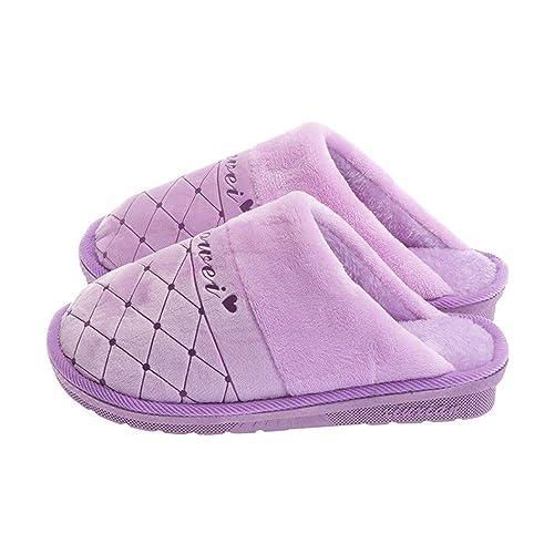 Zapatillas de Fondo Suave Antideslizante de Invierno, Zapatillas de algodón para Mujer, de Fondo Grueso, Modelos de Pareja casera, Zapatillas de algodón, ...