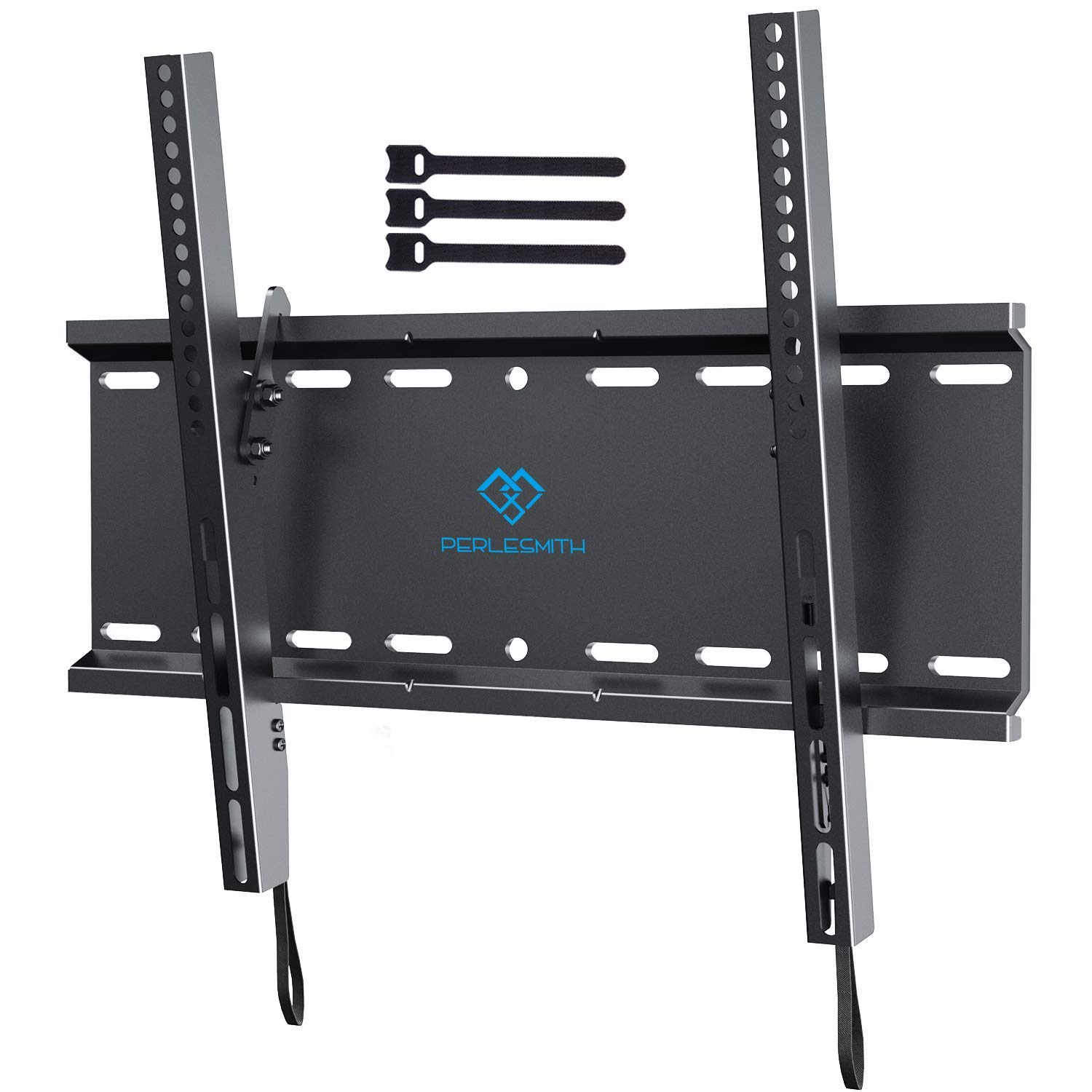 Tilting TV Wall Mount Bracket Low Profile for Most 23-55 Inch LED, LCD, OLED, Plasma Flat Screen TVs with VESA 400x400mm Weight up to 115lbs by PERLESMITH by PERLESMITH