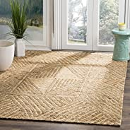 Safavieh ORG705A-5 Organic Collection Abstract Area Rug, 5' x 8', Natural/Iv