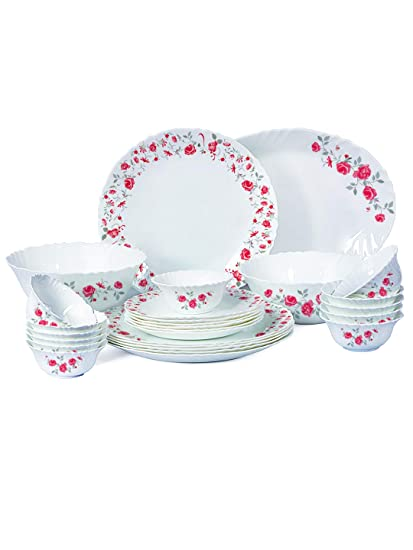 ecfd9f041e8 Buy Cello Imperial Rose Fantasy Opalware Dinner Set