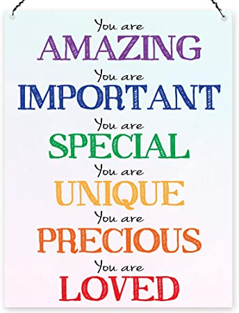 Dorothy Spring You Are Amazing Lovely Rainbow Inspirational Wall ...