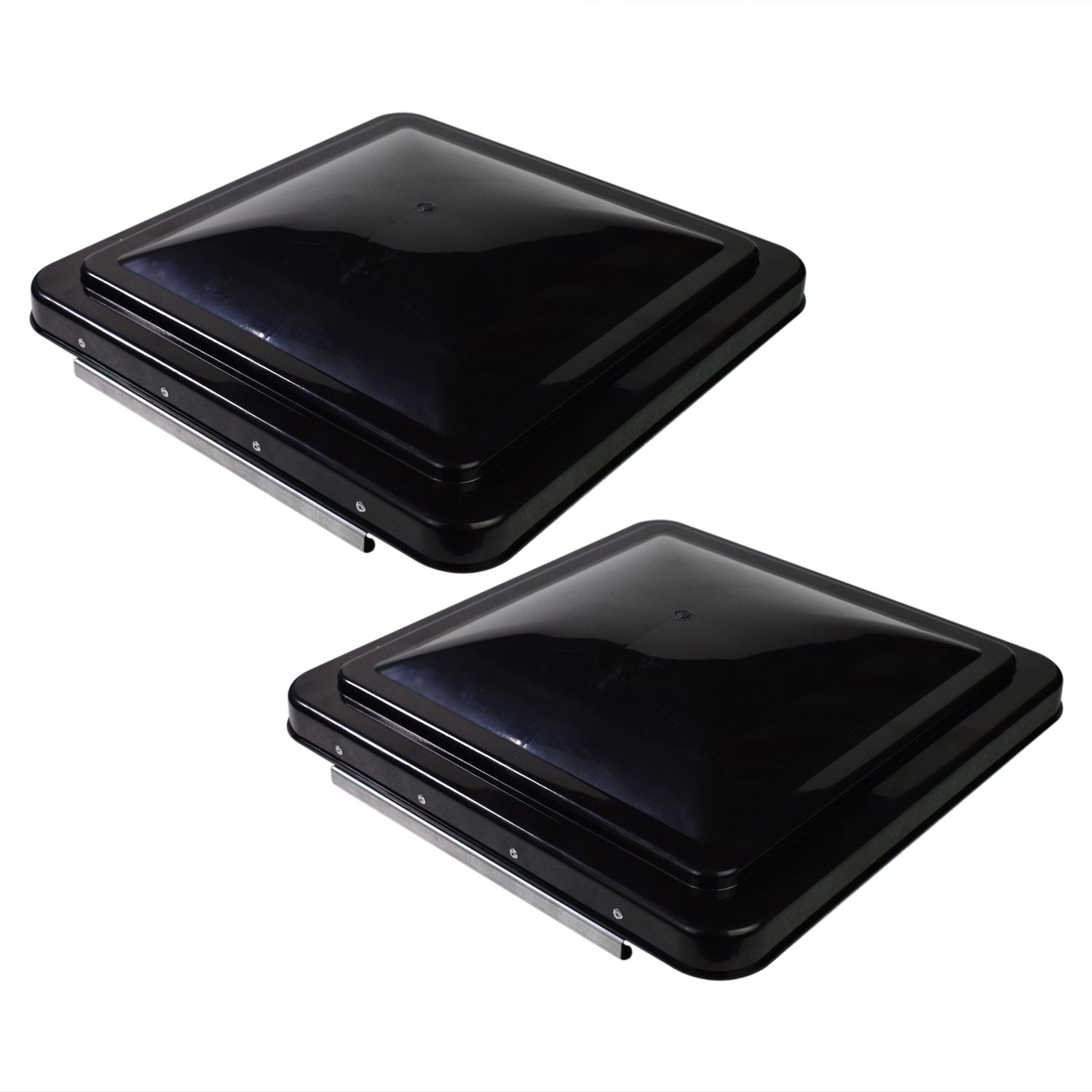 Leisure 2 Packs 14 Inch RV Roof Vent Cover Universal Replacement Vent Lid Black for Camper Trailer Motorhome by Leisure