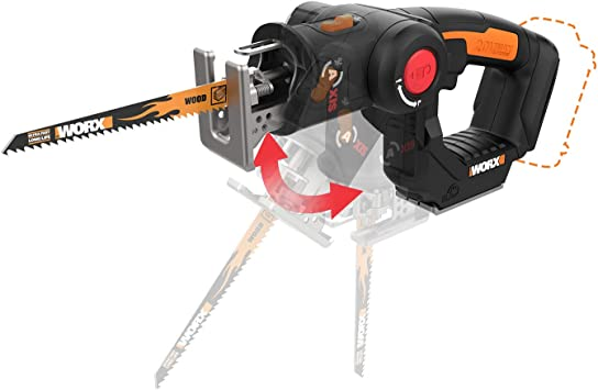 WORX WX550L.9 20V AXIS 2-in-1 Reciprocating Saw /& Jigsaw **BONUS 4-FREE BLADES**