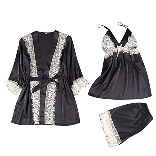Women Fashion Sexy Sleepwear Lingerie Lace Temptation Underwear Nightdress  Black 59f5d7178