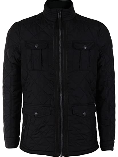 Tom Tailor Diamond-Quilted Jacket-Chaqueta Hombre Negro XX-Large: Amazon.es: Ropa y accesorios