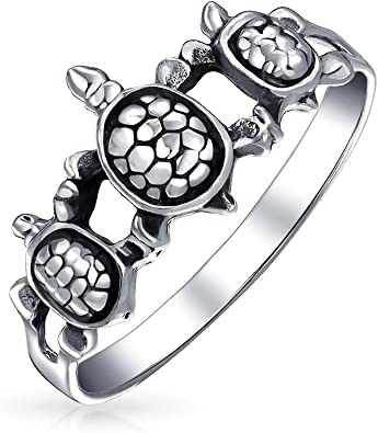 Handmade 925 Solid Sterling Silver Jewelry Turtles Silver Ring Gift For Her 925 Sterling Silver Statement Ring Silver Band Ring