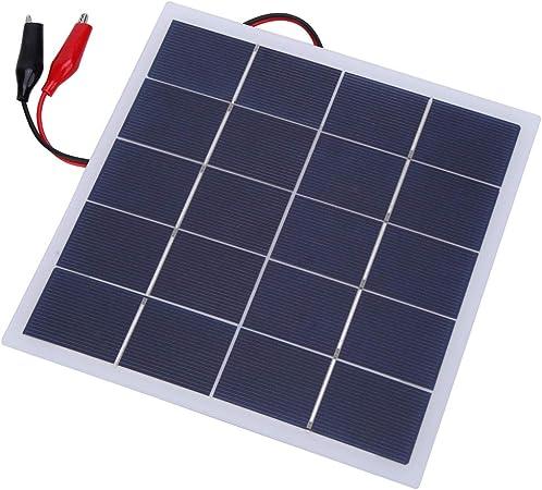 Alomejor1 4W 5V Panel Solar Polisilicio Cargador de Batería ...