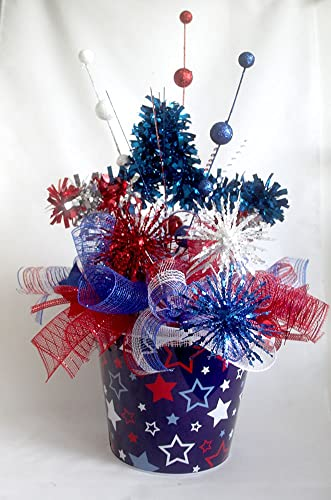 Large Patriotic star floral arrangement