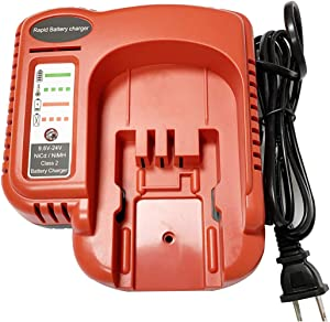 UNGINO FSMVC BDCCN24 7.2V-24V Battery Charger for Black+Decker BDCCN24 BDFC240, for Black & Decker 18V 14.4V 12V 9.6V 24V NiCD&NiMH Battery HPB18 HPB14 HPB12 HPB24 Black Decker 18V Battery Charger…