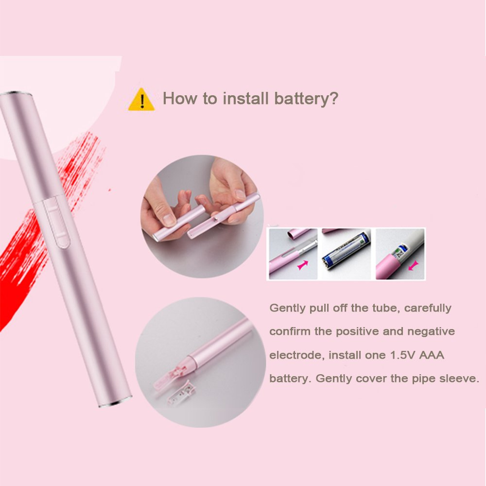 Zinnor Bikini Hair Trimmer with Brush and Comb Electric Eyebrow Trimmer Portable Women Nose Ear Hair Trimmer Eyebrow Razor Ladies Bikini Trimmer