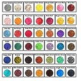 Attom Tech Mica Powder Mica Powder for Soap Making Dye Kit, Powdered Pigments Set, Bath Bomb Dye Colorant, Makeup Dye Resin dye, Eye Shadow, Blush, Nail Art, Resin Jewelry, Artist, Craft, Cards