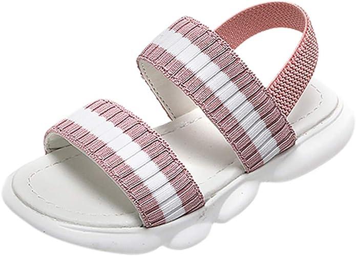 XXYsm Peeptoe Sandalen Baby M/ädchen Klettverschluss Weiche rutschfest Taufschuhe Strandschuhe R/ömische Schuhe