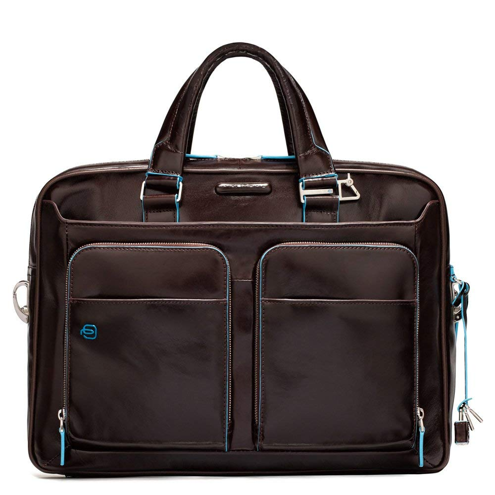 Piquadro Portfolio Computer Briefcase with iPad Compartment, Mahogany