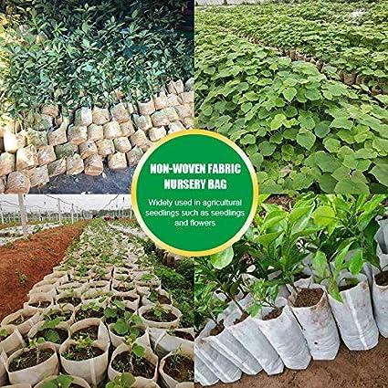 US Biodegradable Non-Woven Nursery Bags Plant Grow Bags Seedling Pots Set 100PCS
