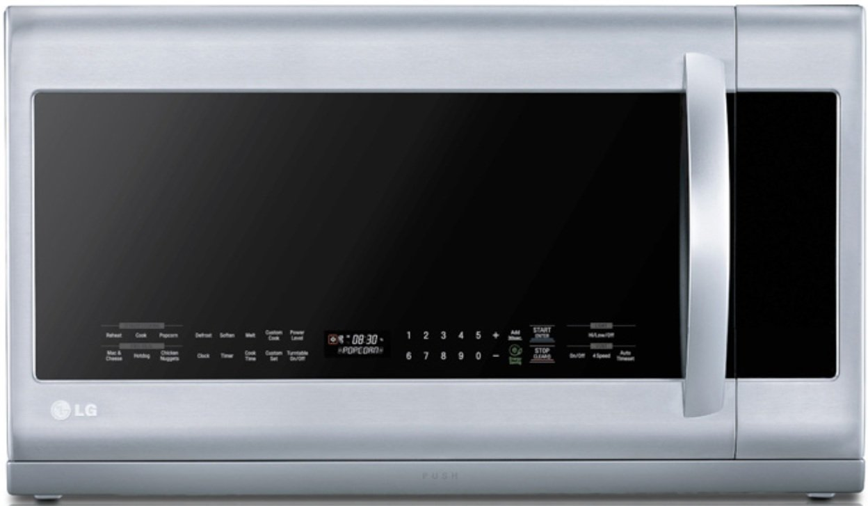 LG LMHM2237ST 2.2 Cubic Feet Over-The-Range Microwave Oven, Stainless Steel by LG