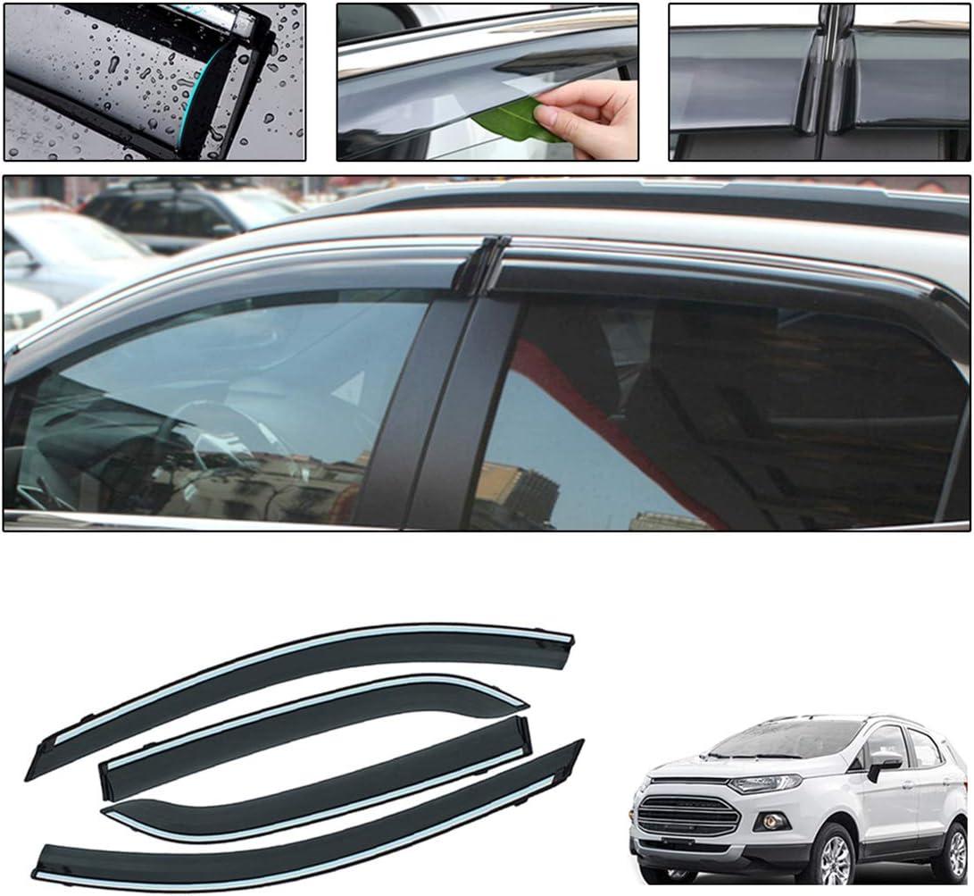 Auto Windabweiser F/ür F ord ECOSPORT 2013-2019 Seitenfenster Blockiere die Sonne und den Regen Durchscheinender Fensterabweiser 4 St/ück Set