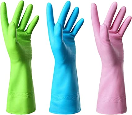Medium or Large Floral Kitchen Cleaning Gloves Size Small Latex Free Dish Gloves Gifts for Women Spring Cleaning Gift Under 30.