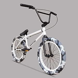 SWORDlimit Bicicleta Freestyle BMX, Cuadro de Rendimiento de Alta Resistencia y amortiguación -8 manivela de 3 Secciones con piñón de Acero de 25 Dientes - relación de transmisión de 25 a 9: