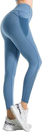 Ramokey Sportleggings, voor dames, hoge taille, leggings, sport, yogabroek, fitness, gymnastiek, pilates met tas - - Tailleunique