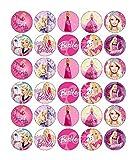 Barbie Cupcake Toppers Edible Paper BUY 2 GET 3RD FREE