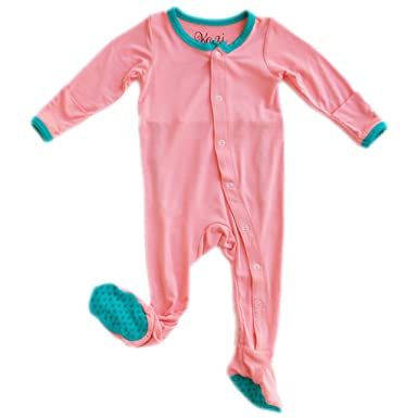 37f7d8ab3 Amazon.com  Kozi   Co. Baby Sleeper Newborn Footie Pajamas - Bamboo ...